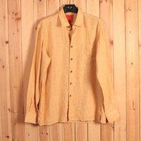 bahama dresses - Europe size Bahama long sleeve linen casual man shirts Two Colors