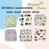 Wholesale HappyFlute cm bamboofiber baby hand cloth wipes towels