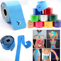 elastic bandage - 2015 High quality Kinesiology Kinesio Athletic KT Sports Tape Medical Muscle Elastic Bandage for Athletes CM M Roll