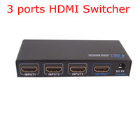 Wholesale Lenkeng LKV331 Port P D HDMI AUTO Switch Switcher Splitter Hub with Cable For HDTV P High Quality