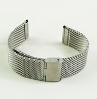 Wholesale Men s mm Stainless Steel Heavy Mesh Watch Strap Hidden Clasp Fashion Design Watch Bracelet