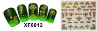 3d nail stickers - XF D Nail Art Sticker Gold and silver Nail Sticker Nail Stickers Sheet Styles XF6012