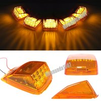 amber running lights - 5pcs Amber Lens Amber LED Roof Running Top Clearance Light Assembly for Kenworth