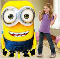 inflatable christmas - 92 cm Big Size Minion Balloons fashion Despicable Me minion Toys Christmas Birthday Wedding Decoration Party inflatable air balloon DHL