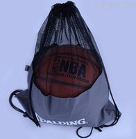 Wholesale Basketball Backpack Soccer Football Drawstring Bag Gym Mesh Bag for Men Kids Sports