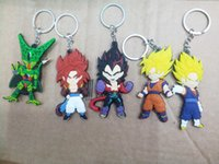 Wholesale Fashion Dragon Ball Z action figure Goku Vegeta Raditz Cell Super Saiya keychains Dragonball toys Key Chains