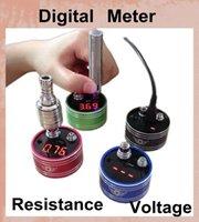 Revisiones Vaporizador de pantalla led-Dispositivo de visualización Ohmímetro Resistencia del inspector T98 Lector digital de voltaje LED para atomizadores de bricolaje con seguridad de construcción para la batería FJ102 vaporizador