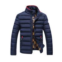 Wholesale Fall Men Winter Coat Splicing Cotton Padded Hotsale Casual Jacket Winter Plus Size Parka MWM1160