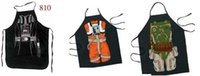 Wholesale Novelty funny cooking aprons Star wars Darth Vader Character Costume cosplay party apron gift hero cosplay funny novelty items