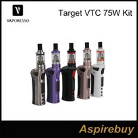 ceramics - Authentic Vaporesso TARGET VTC w starter Kit with Ceramic cCELL Coil replacement Tank Battery Mod W target vs evic vtc mini