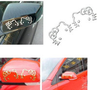 automobile parts - 3D cute cat golden slivery metallic color PVC car sticker auto parts automobile accessory car decoration