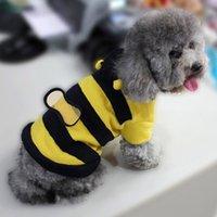 Wholesale Fleece Bumble Bee Lovely Wings Dog Cat Pet Costume Clothes Warm Coat XXS XXL