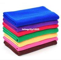Wholesale 5pcs Softness Strength Microfiber Towel Car Care Cleaning Wash Clean Cloth X70CM TOP12