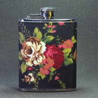 Wholesale Special Offer Promotion Freeshipping Mini Metal Drinkware Oz Portable Stainless Steel Hip Flask Flower Lady with