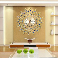 Wholesale luxury wall clock fashion watches living room simple large gold wall clocks cm