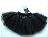 ruffle yarn - Solid Veil Cake Ruffle Lace Yarn Tiered Kids Clothes Girls Gauze Skirts Children Clothing Tulle Tutu Skirt Midiskirt Black D4998