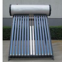 tubo tubo de calentador de agua solar 15 de calor, alta presión compacto colector de energía solar sistema de calefacción de agua con bobina de cobre