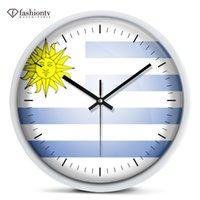 big blue bracket - Creative personality fashion when European quartz clock quiet sitting room wall clock clock big bracket clock packages mailed