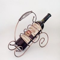 bar areas - 2pcs Creative home bar wine bottle holder home decor Continental restricted area shipping creative wine rack wine rack wrought iron ornament