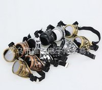 Wholesale High quality Unisex Gothic Vintage Victorian Style Steampunk Goggles Welding Punk Gothic Glasses Cosplay Colors