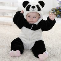 Wholesale Toddler Newborn Baby Romper Panda Months One Piece Long Sleeve Cotton Baby Costume Bear Animal Cosplay