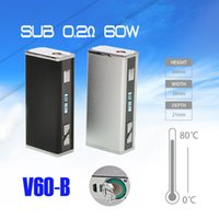 Cheap Electronic Cigarette Vaporizer Original Vapor Storm Sub Ohm Tank Box Mod U60B,Refillable 18650 Battery Mod,60W,0.2ohm,vs Istick 50W