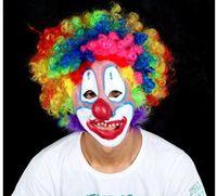 Wholesale Masquerade party supplies Halloween supplies explosive head wig new clown mask