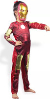 Wholesale 2016 New arrival children cosplay clothing Iron man clothing Anime superman Performance clothing Iron man suit YCF2