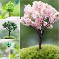 Wholesale 1x DIY Home Miniature Nice Tree Plants Dollhouse Fairy Garden Decor Ornament US
