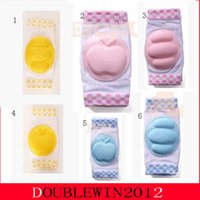 Wholesale 1pair pair style Children Knee Pad Toddler Crawling Knees Protector Baby Kids Elbow Pads