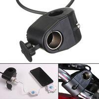 Wholesale 1x V Metal Motorcycle Cigarette Lighter Holder Socket Power Socket For Phone MP3 GPS order lt no track