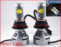 2 jeux 9007 Système de phares HB5 72W 7000LM LED CREE Auto Hi Dual / Low 4S faisceau UPGRADED MTG2 CHIP Xenon Blanc modifiable Conduite Anti-brouillard