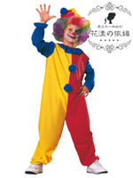 Wholesale Halloween Costumes Adult Funny Circus Clown Costume Naughty Harlequin Uniform Fancy Cosplay Clothes
