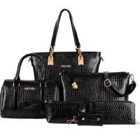 messenger bag - Classic Women Totes bolsas Women s Shoulder Bags PU Leather Bag Lady s Designer Handbag Messenger bags Crossbody Bag Sets