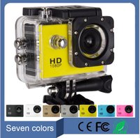 Wholesale 2016 Waterproof Inch LCD Screen style P Full HD HDMI Camcorders SJ400 Helmet Sport DV Action Camera Mini outdoor camera