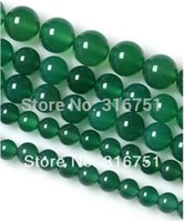 Venta caliente 6 8 10 12 12 mm Suave cuentas de ónix ágata verde Ronda 15.5inch / hebra de recogida Tam Envío-f00058 gratuito Aa