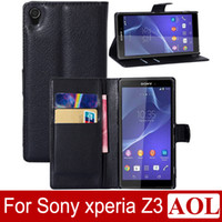 cover For Sony Xperia Z2 - For Sony Xperia Z3 L55 Z3 Compact Z2 Z1 Leather case with credit card holder fashion luxury flip leather wallet stand cell phone case cover