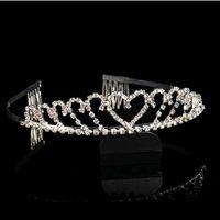 diamond tiara - 2014 diamond tiara Tiaras dresses bridal crown classic Korean alloy diamond tiara crown Bridal Accessories bridal hair accessories