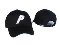 baseball p - black strapback palace P logo brand peaked golf caps bent brim men women casquette outdoor hunting hats spring sun cricket baseball caps PP