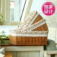 willow basket - Natural Willow Wicker baskets Ratten Storage box Basket Drawer for Picnic Food Drink Toys Sundries Novelty Christmas Gift