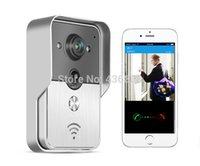 Wholesale New Wifi video door phone doorbell Wireless Doorphone viewer Intercom Camera Support IOS Android for iPad Smart Phone Tablet