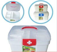 medicine cabinet - Thicken the small cabinet Hospital pharmacy gift plastic boxes medicine boxes aid kit