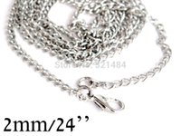 Wholesale 100piece Dull Silver Plated Nickel Colored mm cm encryption curb chain necklace lobster clasp