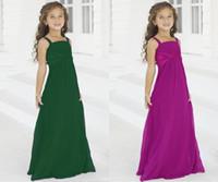 beautiful beach weddings - Beautiful Junior Bridesmaid Dresses Long Floor Royal Blue Chiffon Beach Bridesmaid Dresses Flower Girls Dresses For Weddings