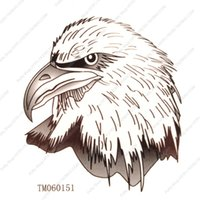bald eagle stickers - waterproof tattoo stickers bald eagle tattoo stickers tm060151