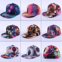 Wholesale 2015 New Fashion Galaxy Baseball Cap for Women men Space Pattern Print Snapback Unisex Hip Hop Peak Hats baseball cap casquette free ship