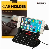Wholesale REMAX Universal Car Mount Phone Holder With DC V A USB Charger x110mm Charging Cradle Non Slip Pad For IPhones For Android
