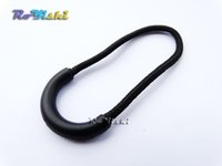 zipper pull - 100pcs Zipper Pulls Cord Rope Ends Lock Zip Clip Buckle Black For Backpack Clothing