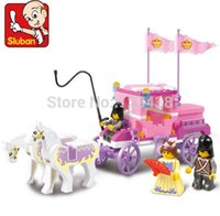 Cheap Sluban Pink Building Blocks for Girls Toy Royal Carriage Wagon 99pcs
