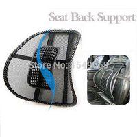 Wholesale 1Pcs Car Chair Massage Seat Back Lumbar Support Mesh Ventilate Cushion Pad Black Car Styling Mesh Back Lumbar Cushion Healthy M49221